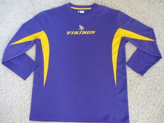 Minnesota Vikings NFL Team Apparel Long Sleeve Purple T-Shirt Men s Large   NFLTeamApparel   6af8dad5b