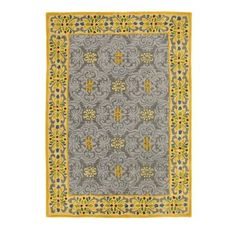 Pirouette Rug in Pewter (border Pattern, Rug Sample) | Handmade Area Rugs from Company C