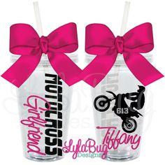 Motocross Girl Personalized Acrylic Tumbler