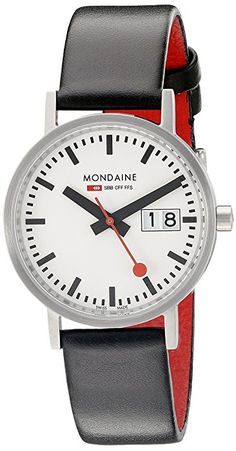 Mondaine Damen-Armbanduhr XS New Classic Analog Quarz Leder A669.30008.16SBO: Amazon.de: Uhren