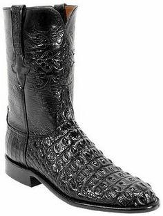 99e837b9fc4 Mens Lucchese Classics Black Hornback Nile Crocodile Custom Hand-Made Roper  Boots L3129 Cowboy And