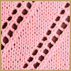 Lochmuster Beispiel 30 Lochmuster Beispiel 30 ist ein einfaches Lochmuster, das Blättchen-Lochmuster wirkt plastisch,beide sind leicht nachzustricken http://www.handarbeitszirkel.de/lochmuster-beispiel-30/