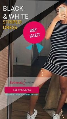 Black and White Striped Dress Trendy Collection, Just Go, Striped Dress, Collections, Black And White, How To Wear, Dresses, Fashion, Vestidos
