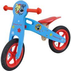 Tiamo Woezel en Pip Houten loopfiets blauw|loopfietsen & -auto's|voertuigen|buitenspeelgoed|speelgoed - Vivolanda