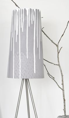 Paint dripped lamp shade by Mrs Hardy. I imagine it with colour and it would be awesome