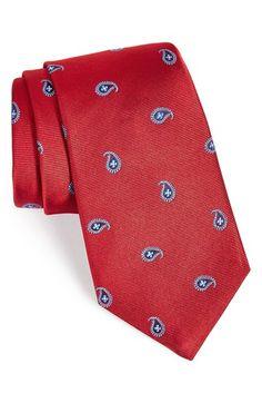 Men's Ike Behar Paisley Woven Silk Tie