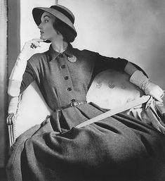 Evelyn Tripp, photo by Horst, Vogue, September 15, 1951 | flickr skorver1