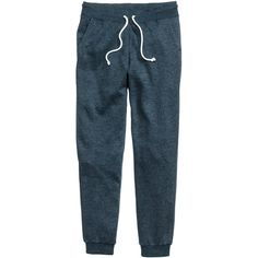 H&M Sweatpants ($13) ❤ liked on Polyvore featuring activewear, activewear pants, h&m sweatpants, blue sweat pants, sweat pants and blue sweatpants