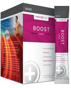 THRIVE Plus Boost - Thrive Boost Supplement - Boost is a berry flavored premium greens beverage designed to alkalize and energize your system.