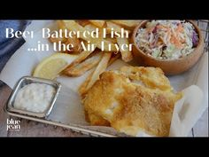 Now you can make Beer-Battered Fish with less guilt by using your air fryer. Easy, tasty and perfect with some air fried chips and malt vinegar. Beer Battered Halibut, Beer Battered Chicken, Battered And Fried, Beer Battered Fish Tacos, Air Fryer Fish Recipes, Air Fryer Dinner Recipes, Air Fried Fish, Fish Batter Recipe, Haddock Recipes
