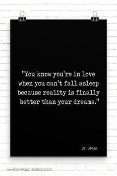 Black & white print for bedroom wall decor - Dr Seuss Love quote #lovequote #bedroomwalldecor #bedroomwallart #inspirationalquote #blackandwhiteart #giftidea
