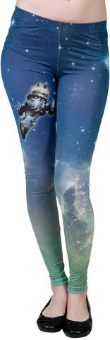 Firefly Leggings -  These Firefly leggings show an image of Serenity, the spacecraft flown from mission to mission on the cult classic series Firefly. With stars printed on the leggings and the leggings being so incredibly soft, everyone will think they are out of this world. Some people might actually call you Captain Tightpants!