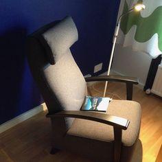 Reading chair. Isku Ritz, design: Raimo Räsänen. Wherever You Go, There You Are by Jon Kabat-Zinn.