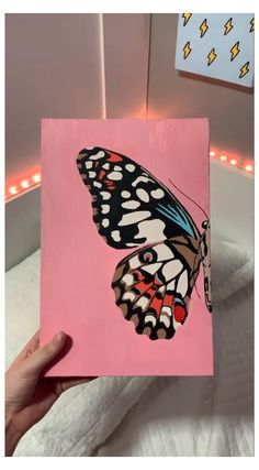 Easy Canvas Art, Simple Canvas Paintings, Small Canvas Art, Mini Canvas Art, Diy Canvas, Canvas Ideas, Arte Sharpie, Hippie Painting, Trippy Painting
