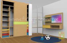Closet Infantil Modelo 435B www.ficare.com.mx