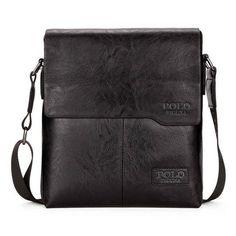 a4e2d649ba VICUNA POLO Men Shoulder Bag Classic Brand Men Bag Vintage Style Casual Men  Mess Vintage Leather