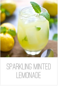 Sparkling Minted Lemonade | The Yummy Bits More