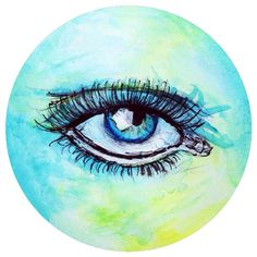 El Cíclope by Sofia Castellanos ©  #art #artist #colors #eye #magic #mystery #drawing #illustration #green #jewelry