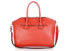 Givenchy Antigona Duffel Hangbag for Sale Leather Orange Red Du Wirst Oma,  Replica Handbags, 70715fff86