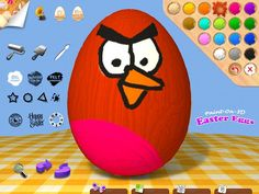 Frohe Ostern | Paint on 3D Easter Eggs | Kinder Apps | iPad