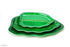 Checkout this latest Plates Product Name: *DineSmart Green Banana Leaf Platter Plate (Set of 3)* Pack: Pack of 3 Country of Origin: India Easy Returns Available In Case Of Any Issue   Catalog Rating: ★4.3 (770)  Catalog Name: Classy Plates CatalogID_1547766 C190-SC2068 Code: 583-8980151-897