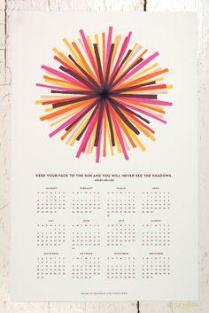 365 Days of Sunshine Wall Calendar in Cream by littlethingsstudio, $22.00