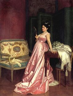 Auguste Toulmouche, The admiring glance, 1868. Oil on canvas. France. Source