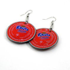 Bottle Cap Earrings.  These are flattened with Sizzix, which I don't have, but the concept is cute!