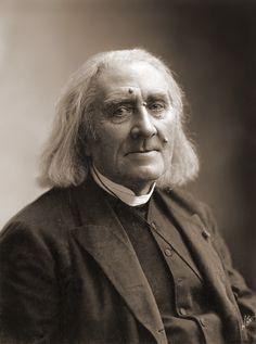 Composer Franz Liszt, potrait by Nadar (Gaspard-Félix Tournachon). (1886)