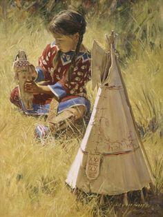 Doll House - Loren Entz - #native American Art