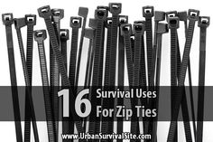 Zip ties, also known as cable ties, are small, light, and incredibly useful. They're well worth adding to your bug out bag and other supplies.