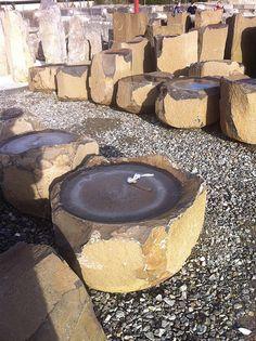 dish rock for birdbath