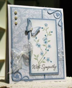 Garden Sympathy by darleenstamps - Cards and Paper Crafts at Splitcoaststampers
