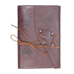 Soul Leather Embossed Handmade Refillable Travel Notebook Diary Journal (Chocolate Brown)