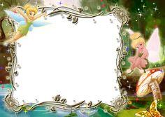 Kids Transparent Photo Frame with Tinkerbell Tinkerbell Disney, Tinkerbell Party, Walt Disney, Garden Birthday, Fairy Birthday Party, Tinkerbell Invitations, Tinkerbell Wallpaper, Photo Frames For Kids, Disney Frames