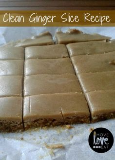 A clean ginger slice recipe which is refined sugar free, gluten free, grain free and dairy free. This clean ginger slice is delicious and packs a punch.