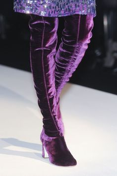 Alberta Ferretti Purple Boots Fall Winter 2011 #Shoes #Heels