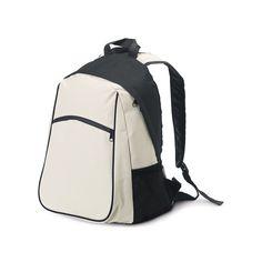 Gefütterter Innenraum. Mesh-Seitentaschen und Fronttasche. Gepolsterte Rücken und Schultergurt. Material: 600D. 300 x 400 x 225 mm  #Werbeartikel, #Werbemittel, #Kundengeschenke, #Firmengeschenke Color Beige, Sling Backpack, Backpacks, Bags, Material, Fashion, Corporate Gifts, Backpack Purse, Pockets