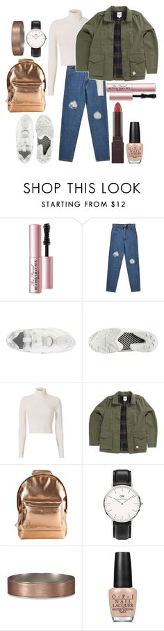 """""""Laurie ●"""" by littlemoon-19 ❤ liked on Polyvore featuring Too Faced Cosmetics, A.L.C., Vans, Mi-Pac, Daniel Wellington, Abercrombie & Fitch, OPI and Burt's Bees"""