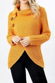 Crochet Poncho Patterns, Crochet Cardigan, Knit Or Crochet, Crochet Summer, Wrap Sweater, Cute Sweaters, Crochet Clothes, Knitting, Total Body