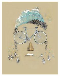 Winter by Daniel Carvalho Bicycle Graphic Design http://www.velovek.com #velovek