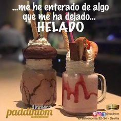 Ginebra, Ron añejo, whisky, carta de cócteles, todo ideal, pero lo que no te hemos contado es algo que nos ha dejado el cuerpo.... HELADO.  ❄️❄️❄️ Ven a #Paddintom Café & Copas y te lo contamos mientras te tomas un apetecible helado al gusto y original. 🍧🍨 #Paddintom #helados #copadehelado #calor #verano2017 #summer #junio #vacaciones #salirdecopas #cotilleo #venAverme #saborexclusivo #happy #icecreams #feliz #picoftheday #sevilla #memuerodecalor #refrescos  Www.paddintom.com