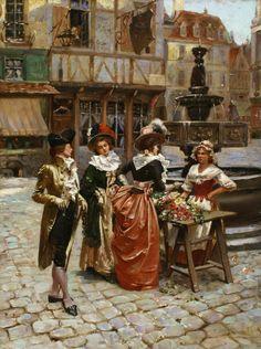 Henry Victor Lesur (French, 1863-1900) - The flower seller
