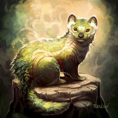 Stepping Stones Cute Fantasy Creatures, Forest Creatures, Mythical Creatures Art, Cute Creatures, Magical Creatures, Mystical Creatures Drawings, Mythological Creatures, Creature Drawings, Animal Drawings