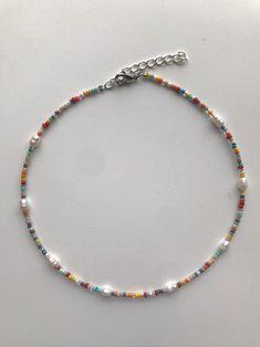 Seed Bead Necklace, Seed Bead Bracelets, Seed Bead Jewelry, Bead Jewellery, Diy Necklace, Cute Jewelry, Necklace Designs, Beaded Jewelry, Jewelery