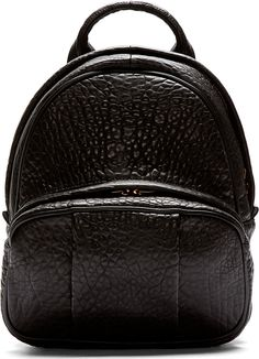 Alexander Wang Black Grained Leather Dumbo Backpack http://www.tinydeal.com/b-px2eyq9-c-341_376_794.html