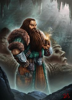 """In honor of """"The Hobbit"""" coming out this week, I'm posting more art that I did last year for Fantasy Flight Games and their Lord of the Rings Card Game. This is a Dwarf of Erebor.... Enjoy! Copyright Fantasy Flig..."""
