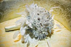 Gina's crystal bouquet by Emplume. photo by Nicole LaDonne