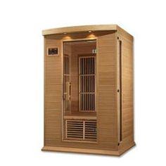 Dynamic Infrared Luxury Series 2 Person FAR Infrared Sauna & Reviews   Wayfair 2 Person Sauna, Traditional Saunas, Steam Sauna, Chromotherapy, Tempered Glass Door, Sauna Room, Infrared Sauna, Thing 1