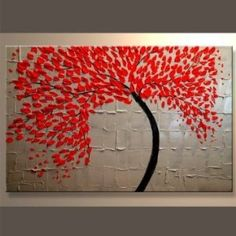 Santin Art - Modern Abstract Ready to Hang Stretched Canvas Oil Painting by Santin Art $80.00